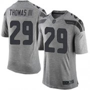 Wholesale Cheap Nike Seahawks #29 Earl Thomas III Gray Men's Stitched NFL Limited Gridiron Gray Jersey