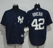 Wholesale Cheap Yankees #42 Mariano Rivera Navy Blue New Cool Base Stitched MLB Jersey