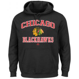 Wholesale Cheap Chicago Blackhawks Majestic Heart & Soul Hoodie Black