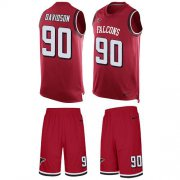 Wholesale Cheap Nike Falcons #90 Marlon Davidson Red Team Color Men's Stitched NFL Limited Tank Top Suit Jersey