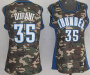 Wholesale Cheap Oklahoma City Thunder #35 Kevin Durant Camo Fashion Womens Jersey
