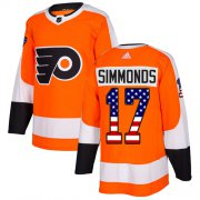 Wholesale Cheap Adidas Flyers #17 Wayne Simmonds Orange Home Authentic USA Flag Stitched Youth NHL Jersey