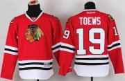 Wholesale Cheap Blackhawks #19 Jonathan Toews Red Stitched Youth NHL Jersey