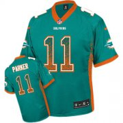 Wholesale Nike Dolphins #11 DeVante Parker Aqua Green Team Color Men's Stitched NFL Elite Drift Fashion Jersey