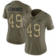 Wholesale Cheap Nike Bills #49 Tremaine Edmunds Olive/Camo Women's Stitched NFL Limited 2017 Salute to Service Jersey