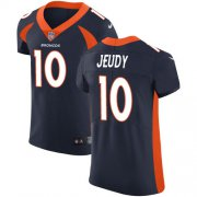 Wholesale Cheap Nike Broncos #10 Jerry Jeudy Navy Blue Alternate Men's Stitched NFL New Elite Jersey
