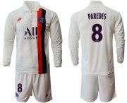 Wholesale Cheap Paris Saint-Germain #8 Paredes Away Long Sleeves Soccer Club Jersey