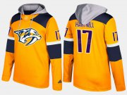 Wholesale Cheap Predators #17 Scott Hartnell Yellow Name And Number Hoodie