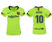 Wholesale Cheap Women's Barcelona #10 Messi Away Soccer Club Jersey