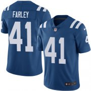 Wholesale Cheap Nike Colts #41 Matthias Farley Royal Blue Team Color Youth Stitched NFL Vapor Untouchable Limited Jersey