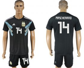 Wholesale Cheap Argentina #14 Mascherano Away Soccer Country Jersey