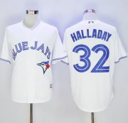 Wholesale Cheap Blue Jays #32 Roy Halladay White New Cool Base Stitched MLB Jersey