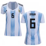Wholesale Cheap Women's Argentina #6 Insua Home Soccer Country Jersey
