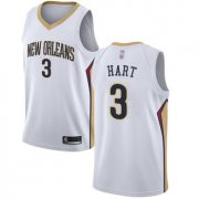Wholesale Cheap Pelicans #3 Josh Hart White Basketball Swingman Association Edition Jersey