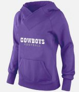 Wholesale Cheap Women's Dallas Cowboys Logo Pullover Hoodie Purple