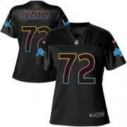 Wholesale Cheap Nike Lions #72 Halapoulivaati Vaitai Black Women's NFL Fashion Game Jersey