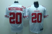Wholesale Cheap 49ers #20 Brian Westbrook White Stitched NFL Jersey