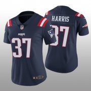 Wholesale Cheap Women's New England Patriots #37 Damien Harris Navy Color Rush Limited Jersey