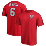 Wholesale Cheap Washington Nationals #6 Anthony Rendon Majestic 2019 World Series Champions Name & Number T-Shirt Red
