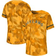 Wholesale Cheap Oakland Athletics Nike Camo Jersey Gold