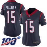 Wholesale Cheap Nike Texans #15 Will Fuller V Navy Blue Team Color Women's Stitched NFL 100th Season Vapor Limited Jersey