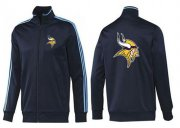 Wholesale Cheap NFL Minnesota Vikings Team Logo Jacket Dark Blue