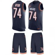 Wholesale Cheap Nike Bears #74 Germain Ifedi Navy Blue Team Color Men's Stitched NFL Limited Tank Top Suit Jersey