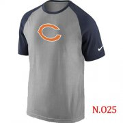 Wholesale Cheap Nike Chicago Bears Ash Tri Big Play Raglan NFL T-Shirt Grey/ Navy Blue
