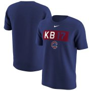 Wholesale Cheap Chicago Cubs #17 Kris Bryant Nike Legend Player Nickname Name & Number T-Shirt Royal