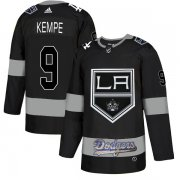Wholesale Cheap Adidas Kings X Dodgers #9 Adrian Kempe Black Authentic City Joint Name Stitched NHL Jersey