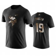 Wholesale Cheap Vikings #19 Adam Thielen Black NFL Black Golden 100th Season T-Shirts