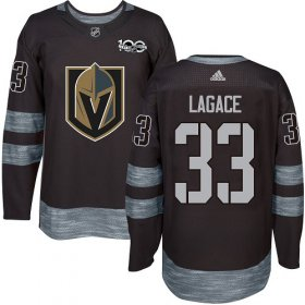 Wholesale Cheap Adidas Golden Knights #33 Maxime Lagace Black 1917-2017 100th Anniversary Stitched NHL Jersey