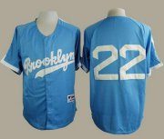 Wholesale Cheap Dodgers #22 Clayton Kershaw Light Blue Cooperstown Stitched MLB Jersey