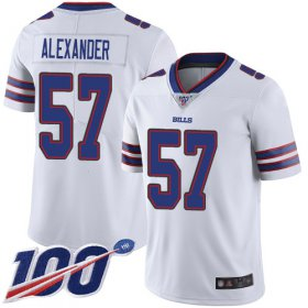 Wholesale Cheap Nike Bills #57 Lorenzo Alexander White Men\'s Stitched NFL 100th Season Vapor Limited Jersey
