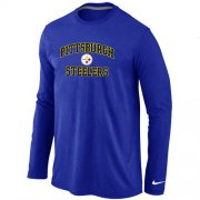 Wholesale Cheap Nike Pittsburgh Steelers Heart & Soul Long Sleeve T-Shirt Blue