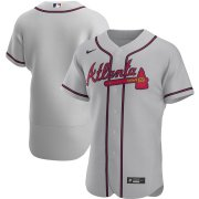 Wholesale Cheap Atlanta Braves Men's Nike Gray Road 2020 Authentic Official MLB Team Jersey