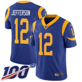 Wholesale Cheap Nike Rams #12 Van Jefferson Royal Blue Alternate Youth Stitched NFL 100th Season Vapor Untouchable Limited Jersey