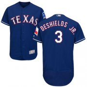 Wholesale Cheap Rangers #3 Delino DeShields Jr. Blue Flexbase Authentic Collection Stitched MLB Jersey