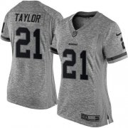Wholesale Cheap Nike Redskins #21 Sean Taylor Gray Women's Stitched NFL Limited Gridiron Gray Jersey