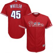Wholesale Cheap Phillies #45 Zack Wheeler Red Cool Base Stitched Youth MLB Jersey