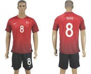 Wholesale Cheap Turkey #8 Inan Home Soccer Country Jersey