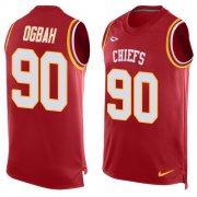 Wholesale Cheap Nike Chiefs #90 Emmanuel Ogbah Red Team Color Men's Stitched NFL Limited Tank Top Jersey