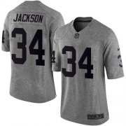 Wholesale Cheap Nike Raiders #34 Bo Jackson Gray Men's Stitched NFL Limited Gridiron Gray Jersey