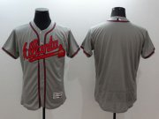 Wholesale Cheap Braves Blank Grey Flexbase Authentic Collection Stitched MLB Jersey