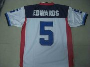 Wholesale Cheap Bills #5 Trent Edwards White Stitched NFL Jersey