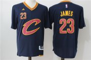Wholesale Cheap Men's Cleveland Cavaliers #23 LeBron James Revolution 30 Swingman 2016 New Navy Blue Short-Sleeved Jersey
