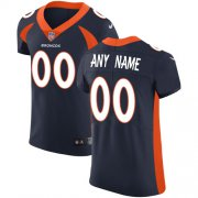 Wholesale Cheap Nike Denver Broncos Customized Navy Blue Alternate Stitched Vapor Untouchable Elite Men's NFL Jersey