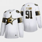 Wholesale Cheap Dallas Stars #91 Tyler Seguin Men's Adidas White Golden Edition Limited Stitched NHL Jersey