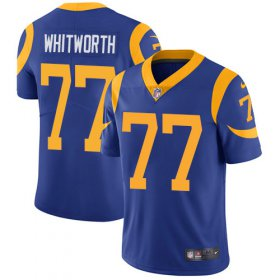 Wholesale Cheap Nike Rams #77 Andrew Whitworth Royal Blue Alternate Men\'s Stitched NFL Vapor Untouchable Limited Jersey
