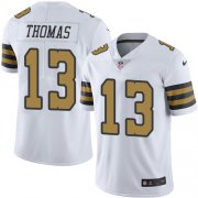 Wholesale Cheap Nike Saints #13 Michael Thomas White Youth Stitched NFL Limited Rush Jersey